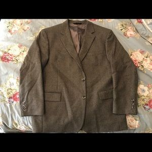 Jos A. Bank Houndstooth Wool Sport Coat 46R